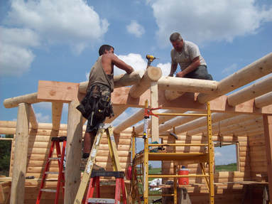 Building a Real Log Homes cabin