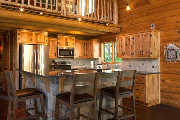 Real Log Homes Kitchen